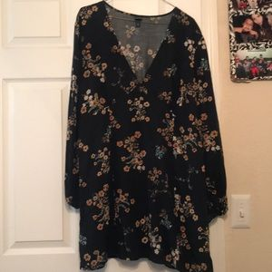 Boho floral above knee xxl target black dress